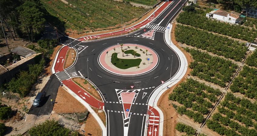 Mejora seguridad vial glorietas Gandía